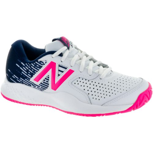 New Balance 696v3: New Balance Women's Tennis Shoes White/Alpha Pink