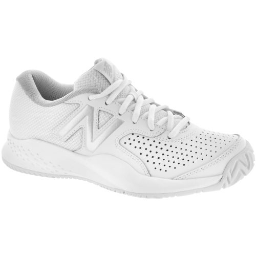 New Balance 696v3: New Balance Women's Tennis Shoes White/Silver