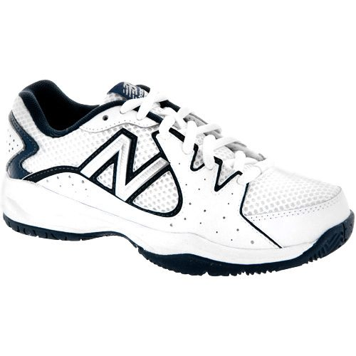 New Balance 786 White/Navy Boys: New Balance Junior Tennis Shoes