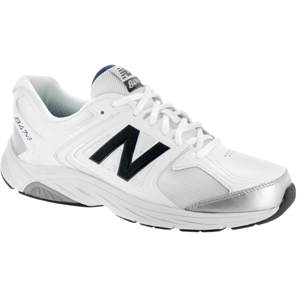 New Balance 847v3: New Balance Men's Walking Shoes White/Grey