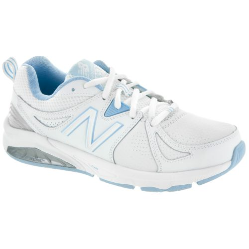 New Balance 857v2: New Balance Women's Training Shoes White/Light Blue