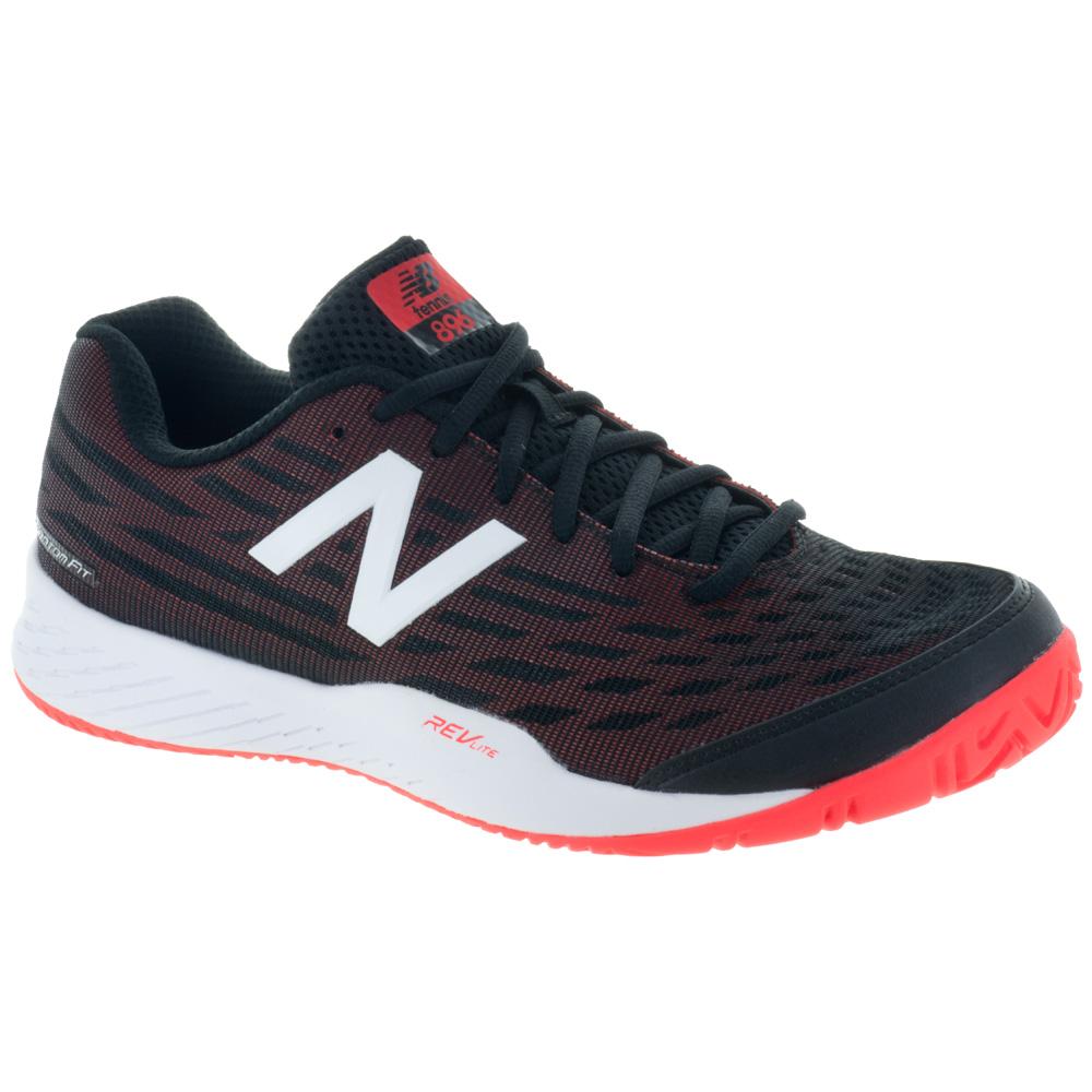 New Balance 896v2: New Balance Men's Tennis Shoes Black/Flame
