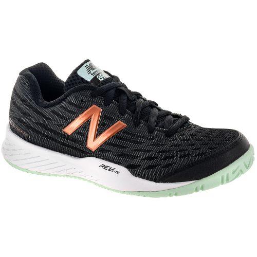 New Balance 896v2: New Balance Women's Tennis Shoes Black/Seafoam/Metallic Rose