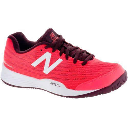 New Balance 896v2 Womens' Vivid Coral/Vivid Coral: New Balance Tennis Shoes