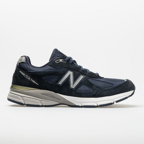 New Balance 990v4: New Balance Men's Running Shoes Navy/Silver
