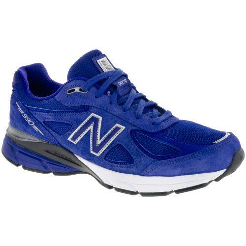 New Balance 990v4: New Balance Men's Running Shoes UV Blue/Silver