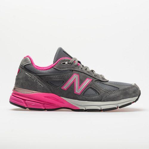 New Balance 990v4: New Balance Women's Running Shoes Gray/Pink