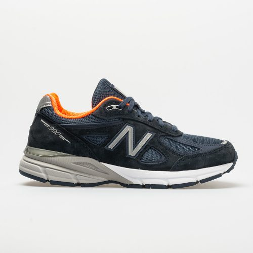 New Balance 990v4: New Balance Women's Running Shoes Navy/Silver
