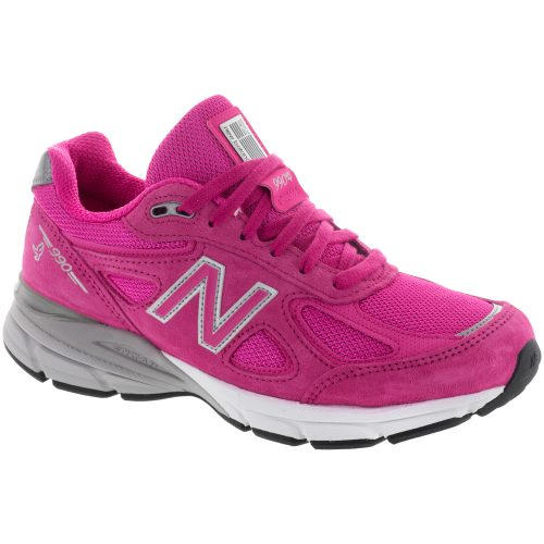 New Balance 990v4: New Balance Women's Running Shoes Pink/Gray