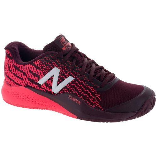 New Balance 996v3: New Balance Women's Tennis Shoes Oxblood/Vivid Coral