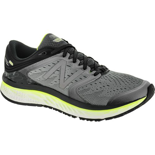 New Balance Fresh Foam 1080v8: New Balance Men's Running Shoes Steel/Black/Hi-Lite