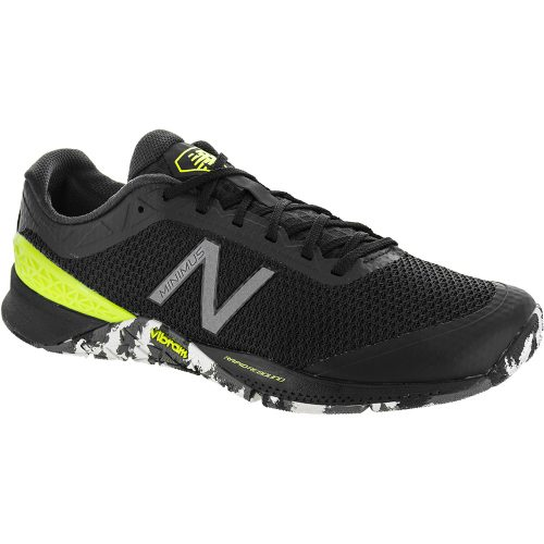 New Balance Minimus 40: New Balance Men's Training Shoes Black/Hi-Lite/Metallic Silver