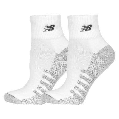 New Balance Quarter with Coolmax White Socks 2 Pack: New Balance Socks