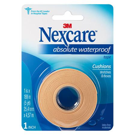 Nexcare Tape, Absolute Waterproof Foam 1 x 180 inches (5yd) - 1 ea