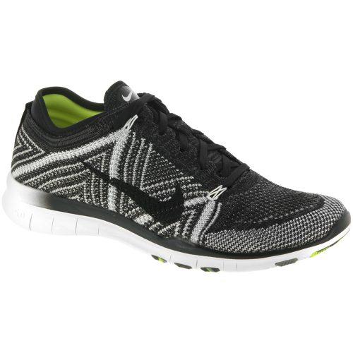 Nike Free TR Flyknit: Nike Women's Training Shoes Black/White/Volt