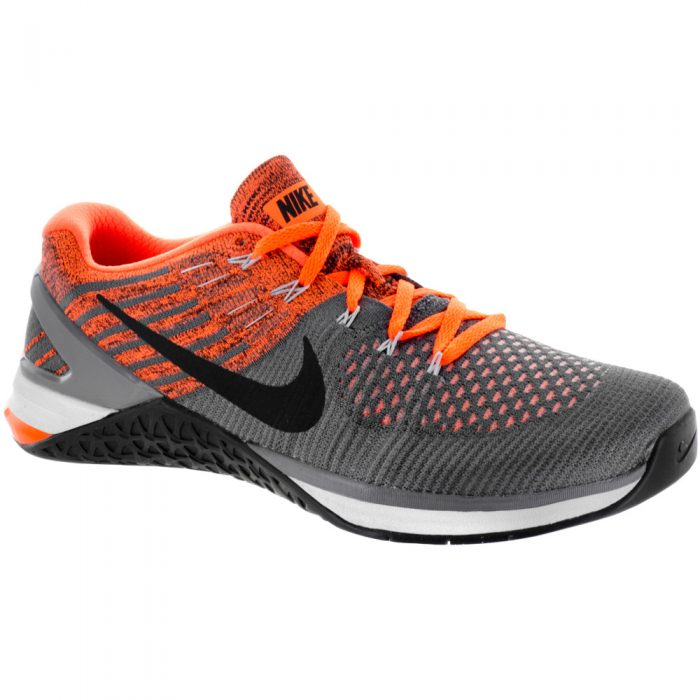 Nike Metcon DSX Flyknit: Nike Men's Training Shoes Dark Grey/Wolf Grey/Hyper Crimson
