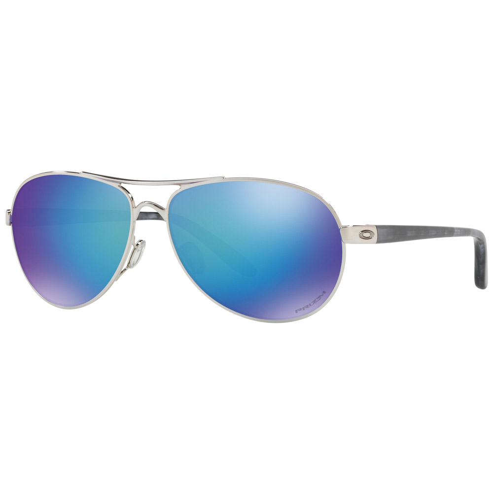 Oakley Feedback PRIZM Polarized Polished Chrome Sunglasses: Oakley Sunglasses