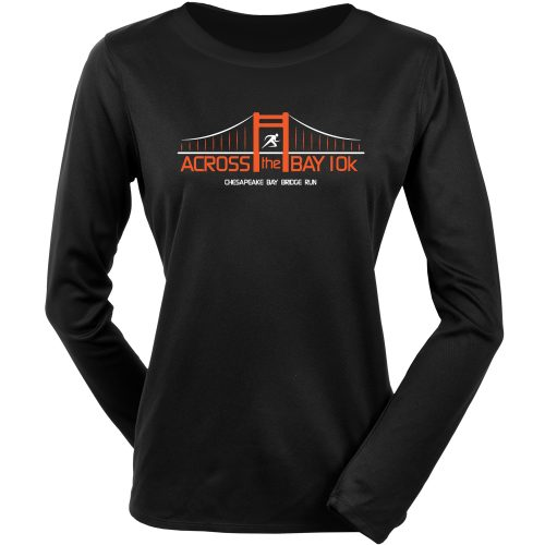 Official Across the Bay 10K In Training Long Sleeve Tee: 10K Across the Bay Women's Bridge Race