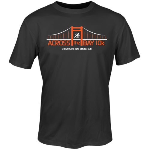 Official Across the Bay 10K In Training Short Sleeve Tee: 10K Across the Bay Men's Bridge Race
