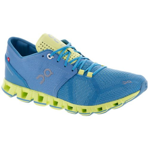 On Cloud X: On Running Women's Running Shoes Niagra/Lime