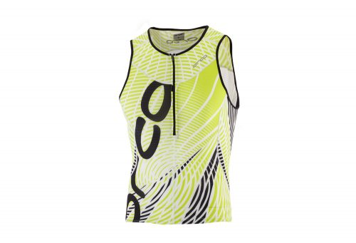 Orca 226 Print Tri Tank - Men's - black/lime punch, medium