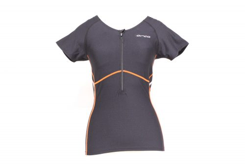 Orca 226 Support Short Sleeve Top - Women's - black/spicy orange, small