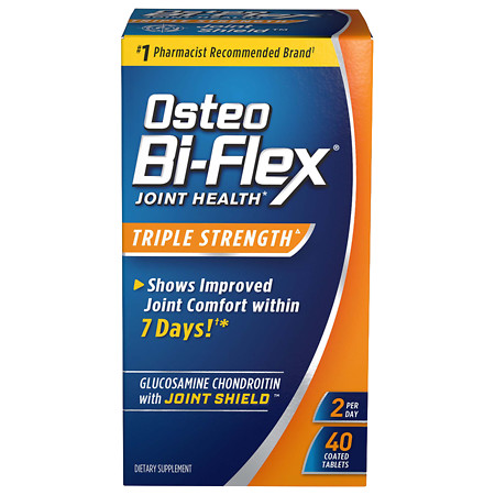 Osteo Bi-Flex Glucosamine Chondroitin plus Joint Shield Dietary Supplement Coated Caplets - 40 ea