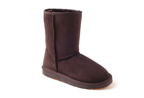 Ozwear Genuine Sheepskin 3/4 Boots - Women's - chocolate, 6.5-7