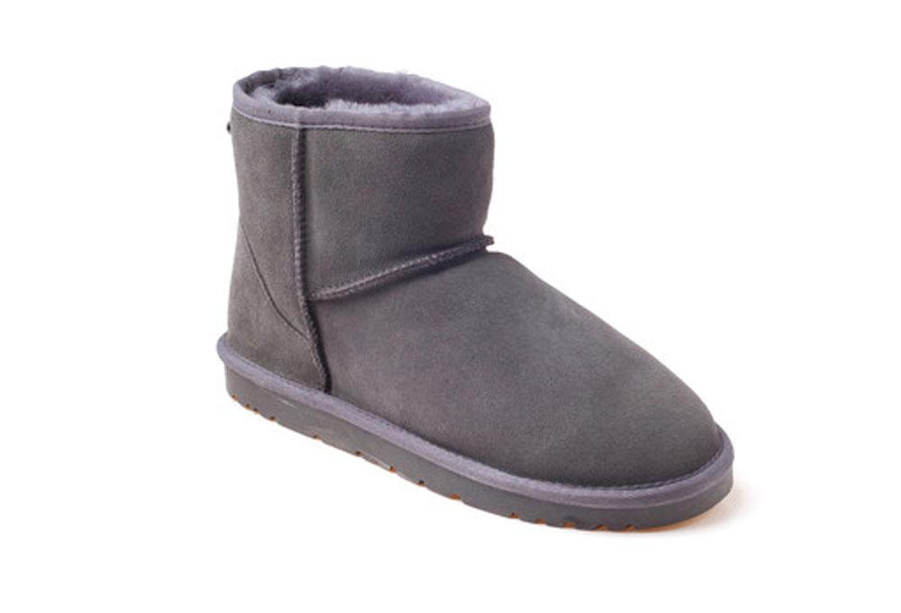 Ozwear Genuine Sheepskin Mini Boots - Women's - charcoal, 10.5-11