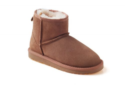 Ozwear Genuine Sheepskin Mini Boots - Women's - chestnut, 10.5-11