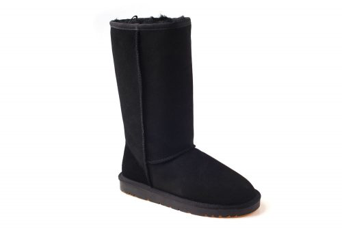Ozwear Genuine Sheepskin Tall Boots - Women's - black, 5.5-6