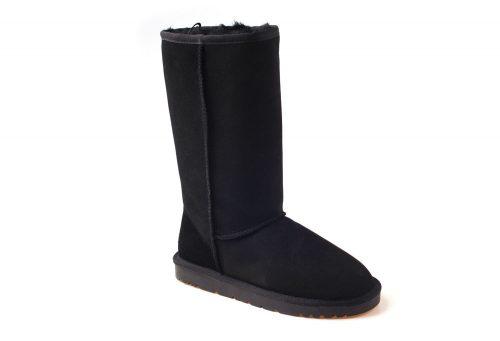 Ozwear Genuine Sheepskin Tall Boots - Women's - black, 6.5-7