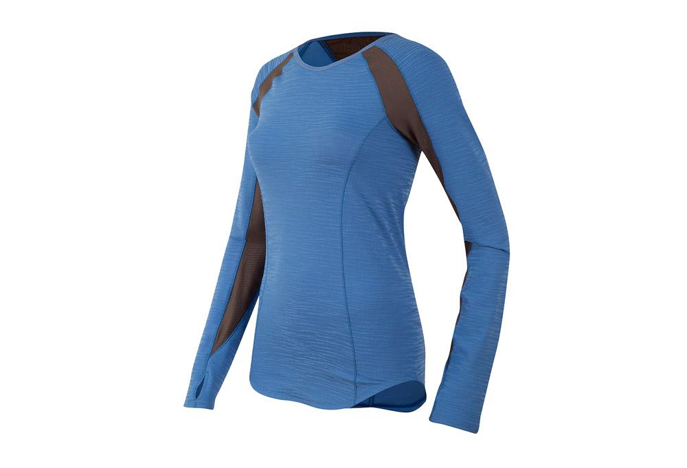 Pearl Izumi Flash Long Sleeve - Women's - sky blue/shadow grey, medium