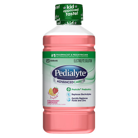 Pedialyte Advanced Electrolyte Solution Strawberry Lemonade - 33.8 oz.