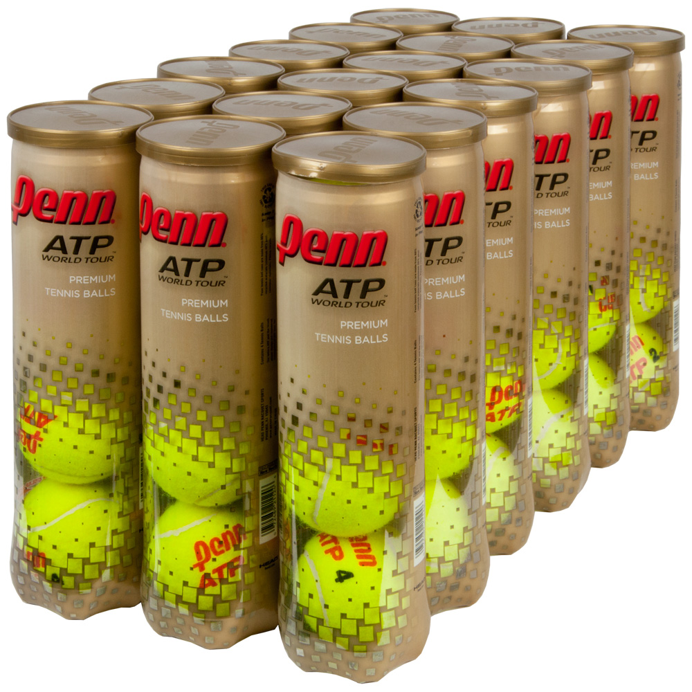 Penn ATP World Tour Regular 4/Can 18 Cans: Penn Tennis Balls