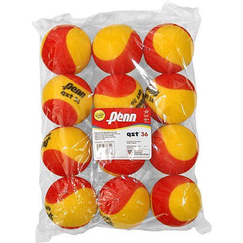 Penn QST 36 Foam 12 Pack: Penn Tennis Balls