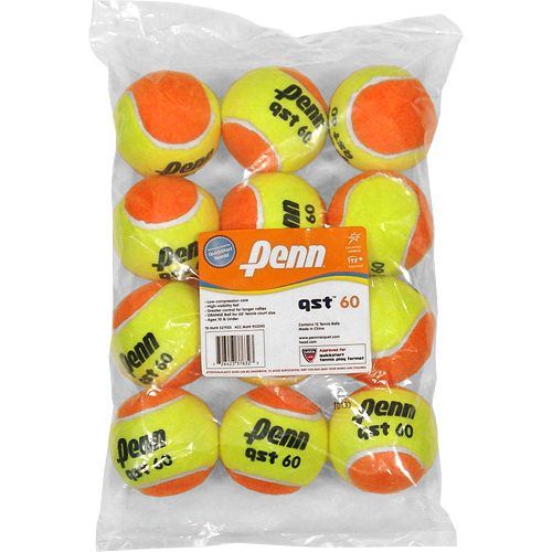 Penn QST 60 Felt 12 Pack: Penn Tennis Balls