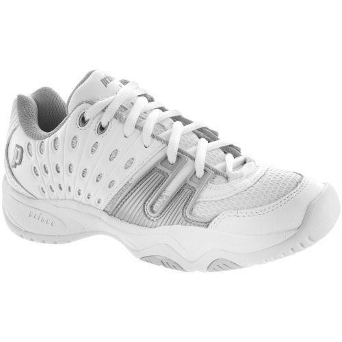Prince T22 Junior White/Gray: Prince Junior Tennis Shoes