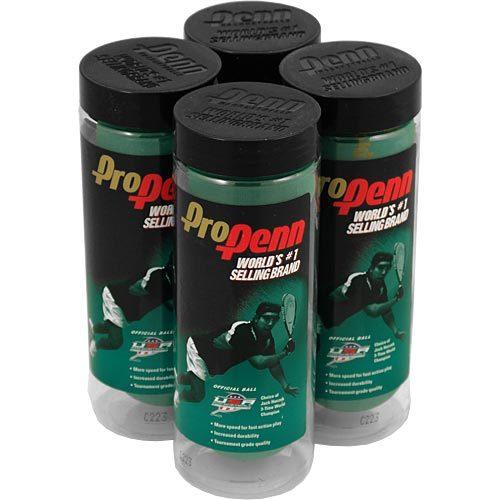 Pro Penn Green 4 Cans: Penn Racquetball Balls