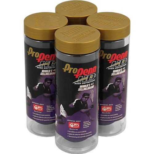 Pro Penn High Definition 4 Cans: Penn Racquetball Balls