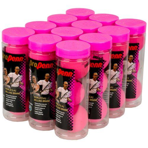 Pro Penn High-Vis Pink 12 Cans: Penn Racquetball Balls