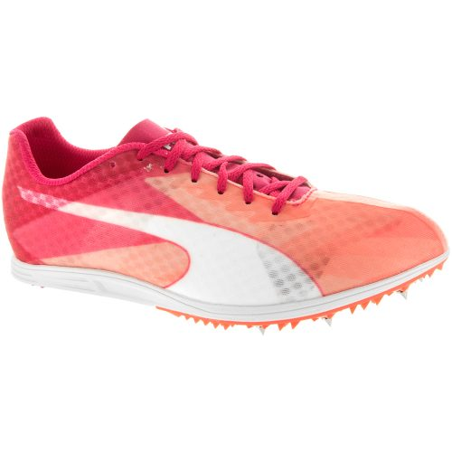 Puma evoSPEED Distance V6: PUMA Women's Running Shoes Fluo Peach/Rose Red/White