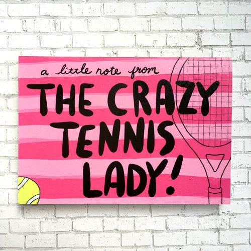 Racquet Smash Boxed Note Card Set (6 cards): Racquet Smash Tennis Gifts & Novelties