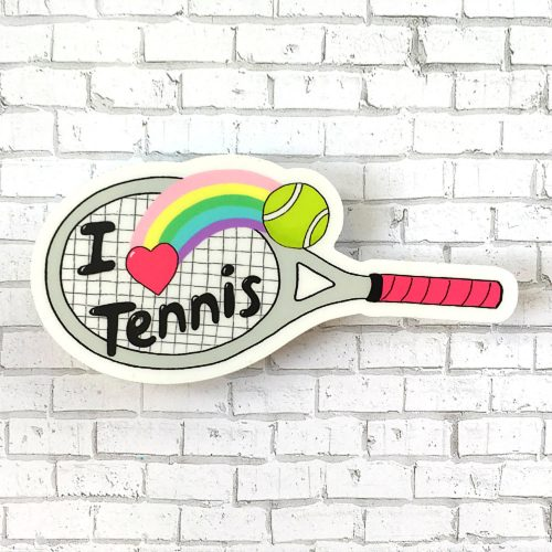 Racquet Smash Vinyl Sticker: Racquet Smash Tennis Gifts & Novelties