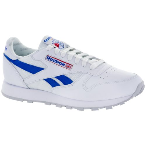 Reebok Classic Leather SO: Reebok Men's Running Shoes White/Vital Blue/Red/Light Grey