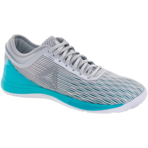 Reebok CrossFit Nano 8 Flexweave: Reebok Women's Training Shoes White/Grey/Turquise