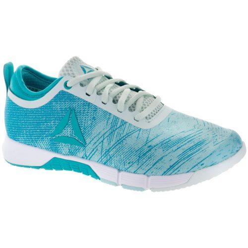 Reebok Speed Her TR: Reebok Women's Training Shoes Blue Lagoon/Teal/White/Silver