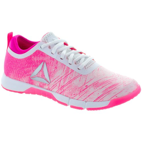 Reebok Speed Her TR: Reebok Women's Training Shoes Pale Pink/Acid Pink/White/Silver