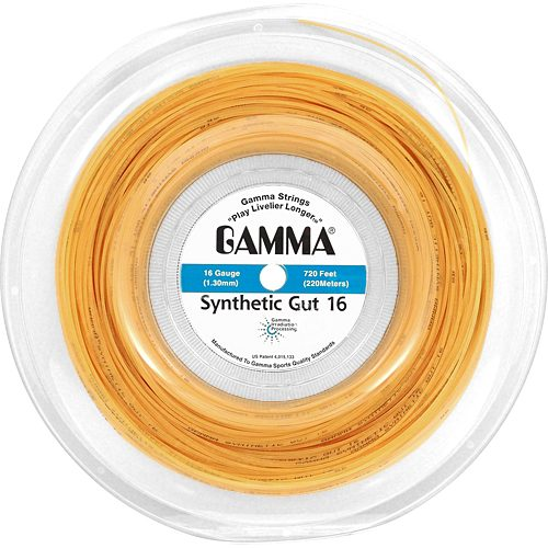 Reel - Gamma Synthetic Gut 16 Gold 720: Gamma Tennis String Reels