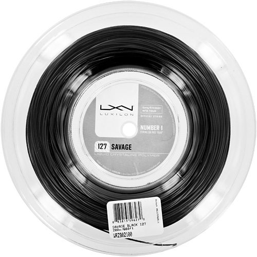 Reel - Luxilon Savage Black 127 660: Luxilon Tennis String Reels